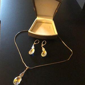Jewelry - Swarovski original necklace & earrings silver set